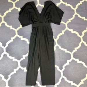 NWT Asos Jumpsuit Black Butterfly Sleeve US 4